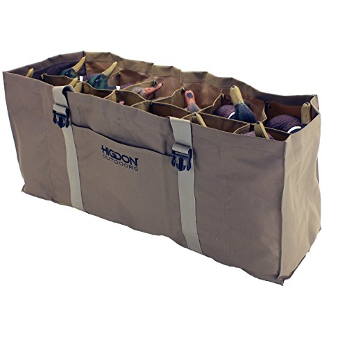 Higdon Outdoors 12-Slot Duck Decoy Bag, Mag to Super Mag, Brown