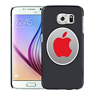 Fashion DIY Custom Designed Samsung Galaxy S6 Phone Case For Red Apple Logo Label Phone Case Cover