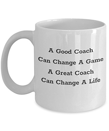 A Great Coach Mug - Gift For Basketball, Football, Baseball, Volleyball, Coaching Best Ever - 11oz or 15oz Ceramic Novelty Coffee Tea Cup