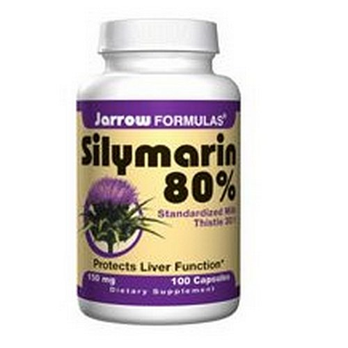 Jarrow Formulas chardon-Marie standardisé de silymarine Extrait 30:1, 150 mg, 100 Capsules (pack de 2)