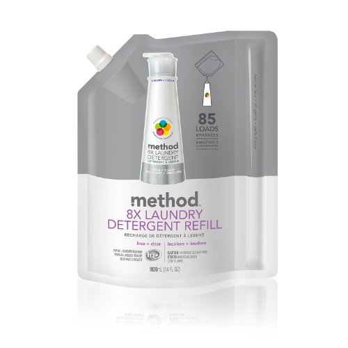 method-naturally-derived-8x-concentrated-laundry-detergent-refill-free-clear-85-loads-34-fluid-ounce