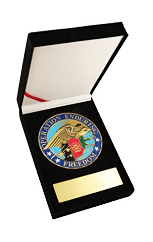 (Operation Enduring Freedom w/Eagle 3.5 Challenge Coin Medallion in Velvet Display Case)