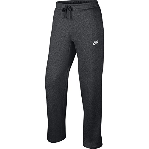 Nike Mens Open Hem Fleece Club Sweatpants Charcoal Grey/White 804395-071 Size 3X-Large