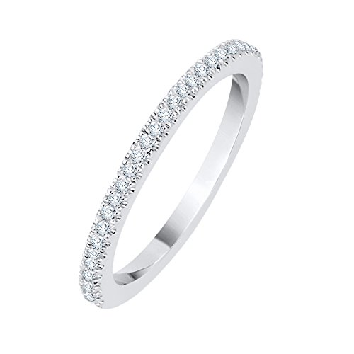 Diamond Anniversary Ring in Sterling Silver (1/6 cttw) (GH Color, I2-I3 Clarity) (Size-7.25) by KATARINA