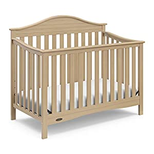 Graco Harbor Lights 4-in-1 Convertible Crib, Driftwood, Easily Converts to Toddler Bed Day Bed or Full Bed, Three Position Adjustable Height Mattress (Mattress Not Included)