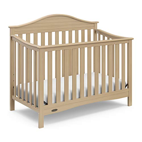 Convertible Crib Wood (Graco Harbor Lights 4-in-1 Convertible Crib, Driftwood, Easily Converts to Toddler Bed Day Bed or Full Bed, Three Position Adjustable Height Mattress (Mattress Not Included))