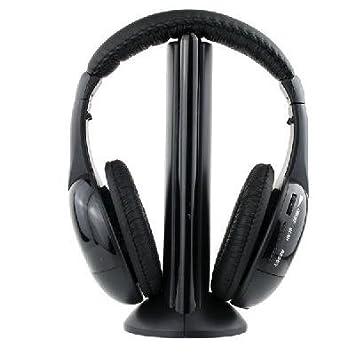 Auriculares cascos inalámbricos wireless FM radio micrófono 5 en 1 mws: Amazon.es: Electrónica