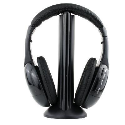 Auriculares cascos inalámbricos wireless FM radio micrófono 5 en 1 mws