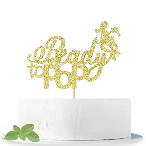 Baby Shower Cake Pops (Gold Glitter Ready to Pop Cake Topper - Baby Shower Anniversary Wedding Birthday Party Decoration)