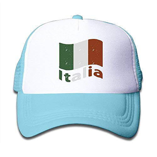 Kids Italian Flag Mesh Cap Trucker Hats Baseball Cap Children Plain Hat