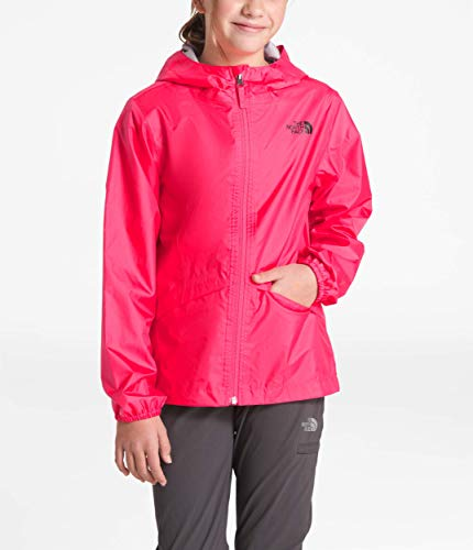 The North Face Girls Zipline Rain Jacket, Atomic Pink, Size -