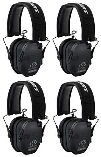 Walkers Razor Slim Electronic Shooting Muffs 4-Pack Bundle, Black (4 Items) by Walker's Game Ear