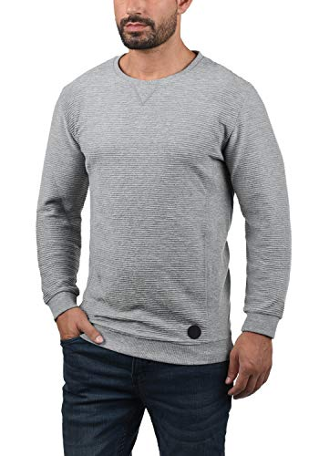 En Homme Col solid Grey Sweat Rico Pull Sweat Melange shirt Light 8242 Rond Pour 0wEnnCRFx8