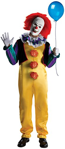 Rubie's IT The Movie Adult Pennywise Deluxe Costume, As Shown, ()