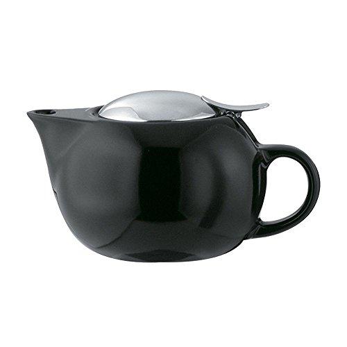Service Ideas TPC10BL Teapot, Ceramic, 10 oz., Round, Black