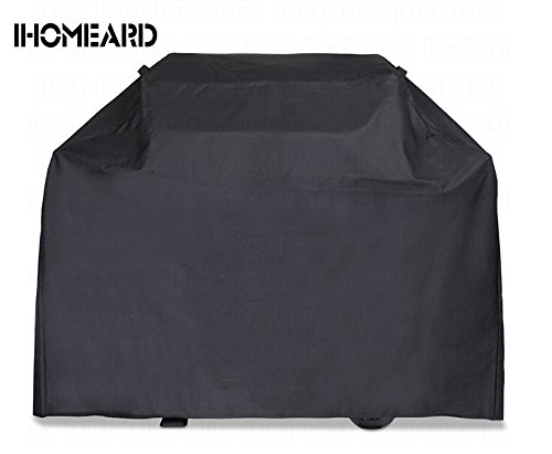 Gas Grill Cover Heavy Duty 58 inch Wide Waterproof IHOMEARD Dustproof Sunproof Lightweight Barbecue Grill Cover for Char Broil,Weber(Genesis), Jenn Air, Brinkmann, Holland and Other Gas Grills