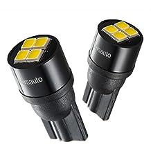 Marsauto 194 T10 LED License Plate Lights Bulbs Non-Polarity, [2018 Upgraded] 2825 168 4SMD White 12V 2PCS