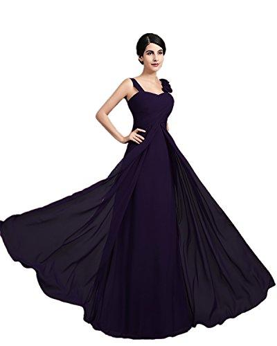 de honor noche dama mujer largo XIAOMING de de Dunkel Elegantes Violett Vestido para la xHqw10RY