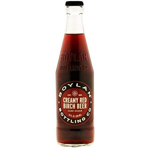 Boylan's Creamy Red Birch Beer Soda Pop, 12 Ounce (24 Glass Bottles) -