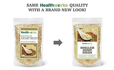 Healthworks Shelled Hemp Seeds Organic (32 Ounces / 2 Pounds)
