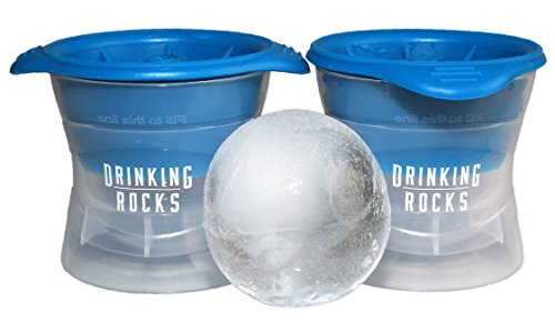 Sphere Ice Mold. Premium Ice Ball Makers. Creates 2.5 Inch Ice Cube Balls. Keep Your Beverage Cool For Longer. Less Surface Area With Spherical Design. Set Of 2. (6 Space Cold Food Pan)