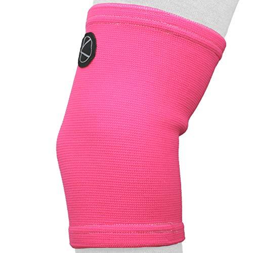 Kids Knee Sleeve for Sports & Kids Knee Brace for Osgood-Schlatter- Best Knee Support for Girls, Boys, Football, Pain, Basketball, Tendonitis, Dance, Gymnastics, Arthritis, ACL, MCL, LCL (Neon Pink)