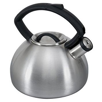 Copco 2503-9712 Valencia Brushed Stainless Steel Tea Kettle, 2.3-Quart