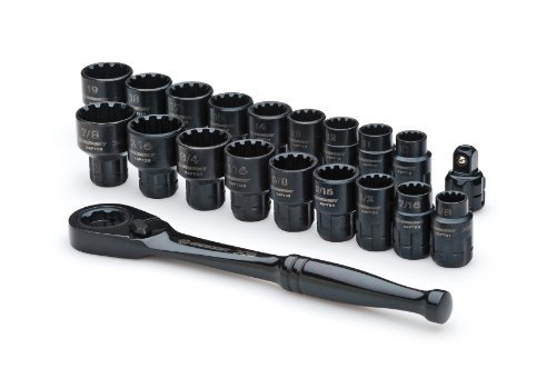 Crescent CX6PT20 X6 Pass-Through Ratchet and Sockets, 20-Piece (Pass Set)