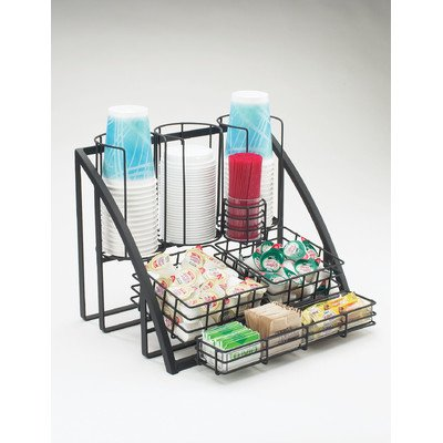 "Cal-Mil 1715-13 Mission Condiment Organizer, 15"" W x 14"" D x 12"" H, Black from Cal Mil"