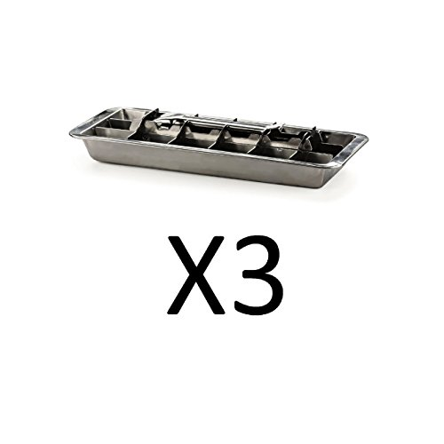 (Endurance Stainless Steel 18 Slot Frozen Ice Cube Tray Easy Release (3-Pack))