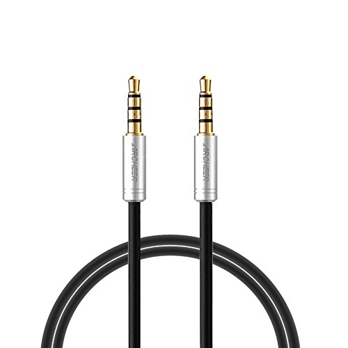 Archeer 3.5mm Stereo Audio Cable 4-Pole Male to Male Extension Cord for Smartphone, Tablets, Headset, PC, Laptop (4ft/1.2m) (4ft Extension Cord compare prices)