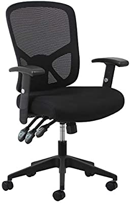 Ofm Essentials Collection 3 Paddle Ergonomic Mesh High Back Task Chair With Arms And Lumbar Support In Black Amazon Sg Industrial Scientific