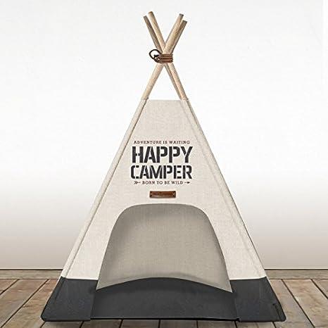 Milk & Pepper Perros tienda Happy Camper Tipi Ivory 70 cm mp501261: Amazon.es: Productos para mascotas