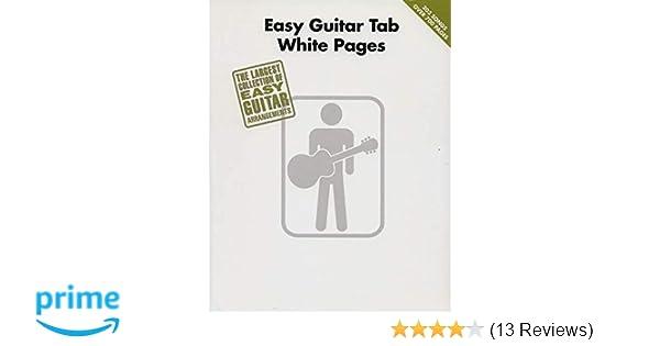 Amazon.com: Easy Guitar Tab White Pages (0884088499396): Hal Leonard ...