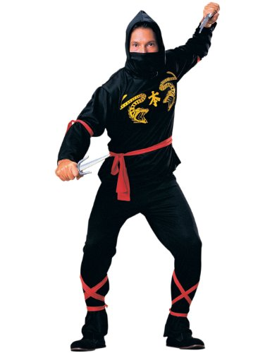 Rubie's Haunted House Collection Ninja Costume, Black, One Size -