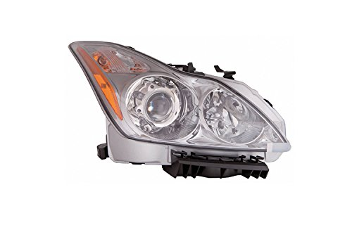 Infiniti G-37 Coupe 08-10 Headlight Assembly without Premium Package RH USA Passenger Side