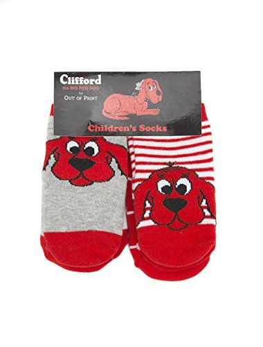 (Out of Print Unisex Clifford Socks 2T-3T 4 Pack)