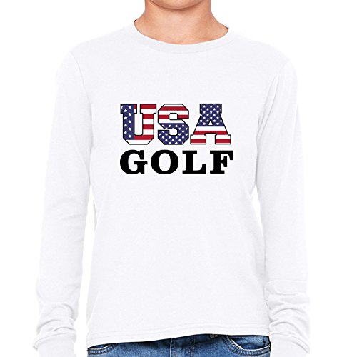 USA Golf - Olympic Games - Rio - Flag Boy's Long Sleeve - Olympics Golf Usa Team Apparel