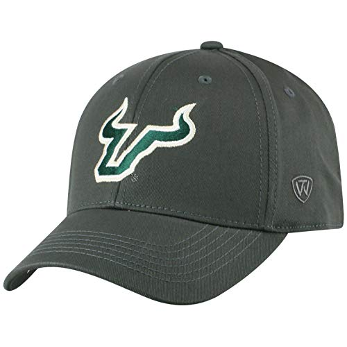 (Top of the World South Florida Bulls Men's Fitted Hat Icon, Charcoal, One Fit)
