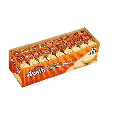 Austin Toasty Crackers w/ Peanut Butter- 45ct (2 Pack) - Total 90 ct. by Austin [Foods]