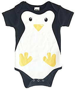 CHUBS, Unisex Printed Penguin Animal Onesie, Cute Baby Shower Gifts, 0-3M, 3-6M, 6-9M, 9-12M
