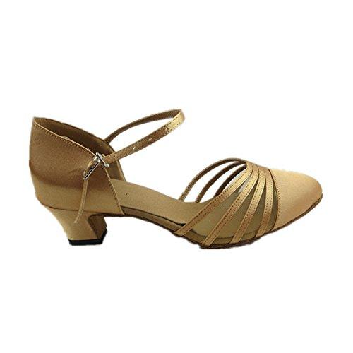 Dance YFF danse 42 Cadeaux 4 danse Dance femmes chaussures Tango latine Brown 5CM WT64ET