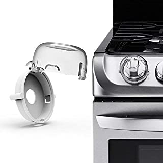 Stove Knob Covers (6 Pack), for Children, Toddlers, Baby and Pets Safety, Electric/Gas Stoves - by CareKraft.