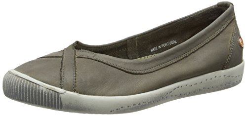 Softinos Ilma Washed, Ballerines Bout Fermé Femme Taupe