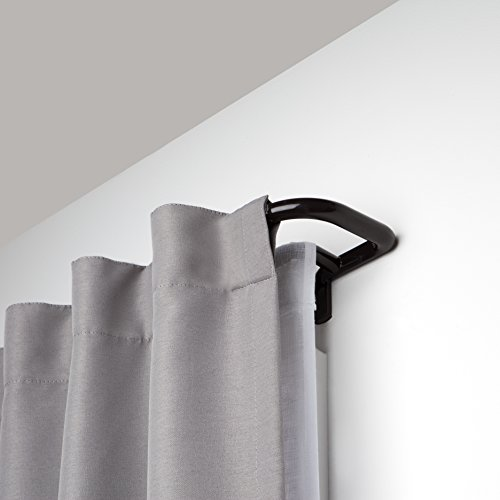 (Umbra Twilight Double Rod Set - Wrap Around Design is Ideal for Blackout Room Darkening Curtains, 28 to 48 Inch, Auburn Bronze,)