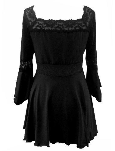 8 Medievale Lungo Elastico Halloween Raven nbsp; Top Costume Strega Festa Taglie Da Corsetto Gotico fRUw7qR