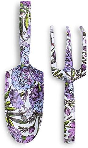Vera Bradley Women s Garden Tool Set with Hand Rake and Trowel, Lavender Meadow