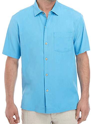 Tommy Bahama Men's Catalina Stretch Twill Shirt Beach Hut Blue XX-Large (20 Catalina)
