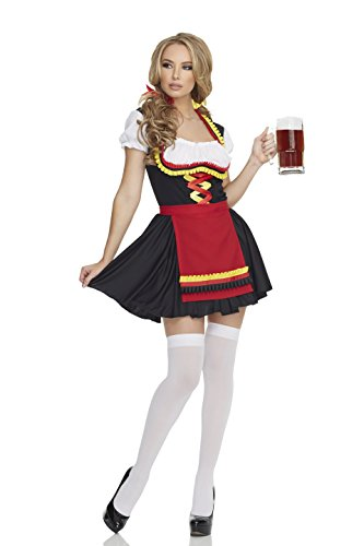 Mystery House Women's German Girl, Black/Red/White/Yellow, Small (Sexy German Costume)