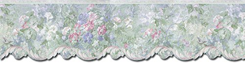 (Wallpaper Border - Floral Prepasted Wall Border 62743DC)